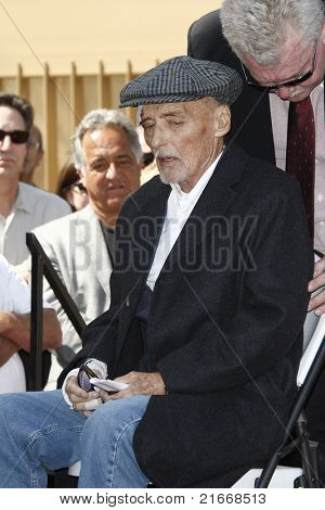 LOS ANGELES - MARCH 26: Dennis Hopper at a ceremony where Dennis Hopper receives a star on the Hollywood Walk of Fame in Los Angeles, California on March 26, 2010