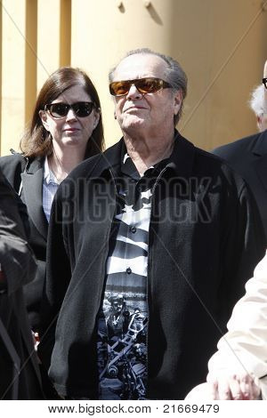 LOS ANGELES - MAR 26: Jack Nicholson at a ceremony where Dennis Hopper receives a star on the Hollywood Walk of Fame in Los Angeles, California on March 26, 2010
