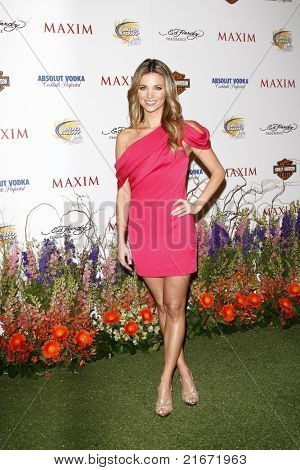 LOS ANGELES, CA - MAY 19: Amber Lancaster arrives at the 11th annual Maxim Hot 100 Party at Paramount Studios on May 19, 2010 in Los Angeles, California