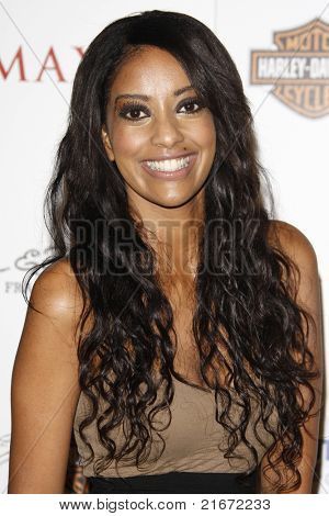 LOS ANGELES, CA - MAY 19: Azie Tesfai arrives at the 11th annual Maxim Hot 100 Party at Paramount Studios on May 19, 2010 in Los Angeles, California