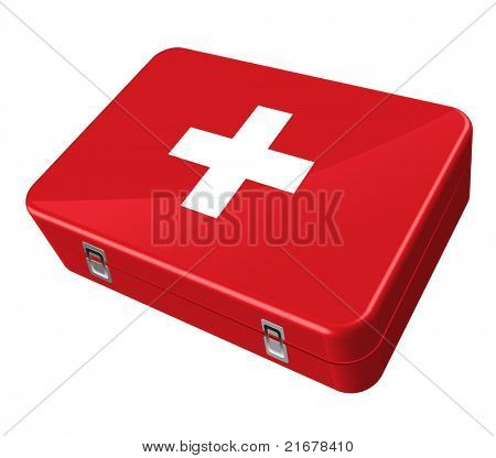 red case, white cross