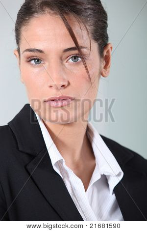 Young brunette businesswoman