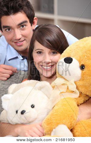 Couple and plush