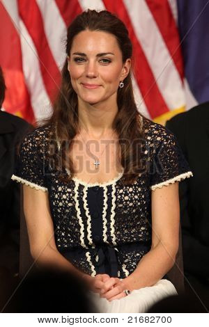 LOS ANGELES - JULY 10:  Catherine, Duchess of Cambridge  The Duke And Duchess Of Cambridge attend The Mission Serve