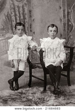 Brothers Antique Photograph