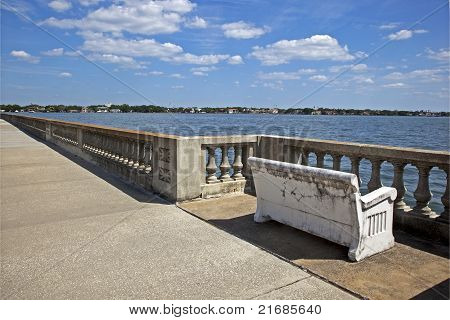 Bench view of Tampa Bay