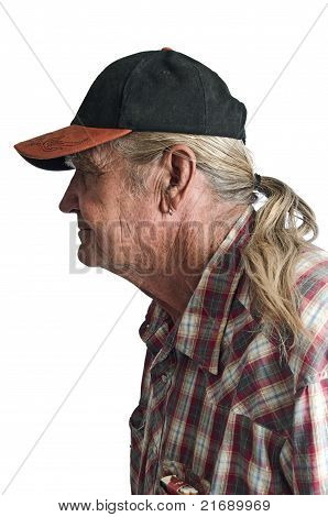 Senior Man With A Ponytail