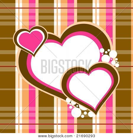 cheque background with hearts
