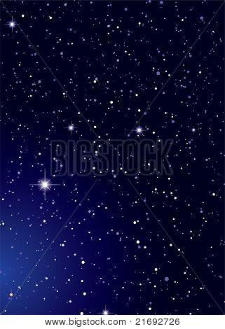 Dark nights sky with stella galaxy and twinkle stars