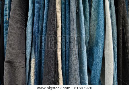 Variety Color Of Jeans Texture
