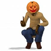 stock photo of wraith  - Funny Punpkin Man perfect for Halloween