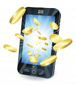 picture of mobile-phone  - Conceptual illustration - JPG