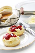 pic of devonshire  - scone with strawberry jam and clotted cream  - JPG