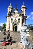 picture of assis  - view of the Igreja de Sao Francisco de Assis of the unesco world heritage city of ouro preto in minas gerais brazil - JPG