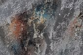 Abstract Textured Background - Grungy Metal Close Up poster