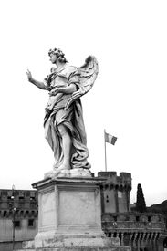 picture of spqr  - Angel statue in Ponte Sant - JPG