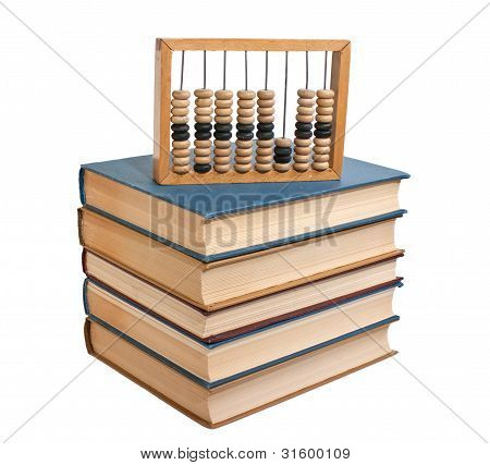 Wooden Abacus On A Pile Of Books