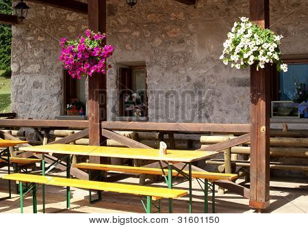 table and flower