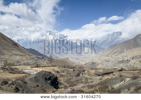 Himalaya Mountains In Spring Time