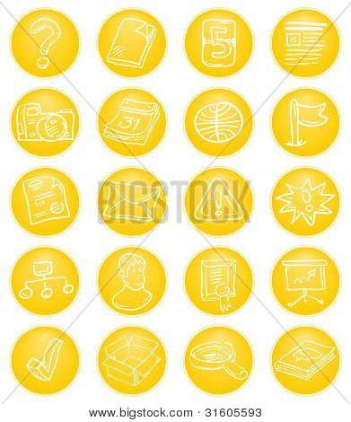 Yellow CMS icons