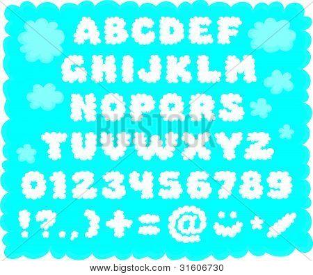 Cloud-shaped font
