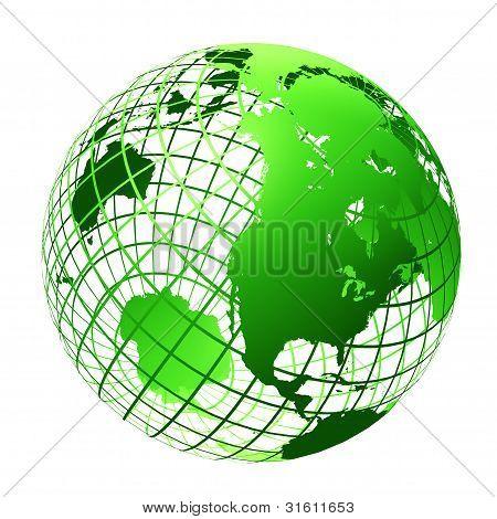 transparente Globus grün