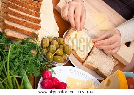 Cheese Sandwiches Preparation