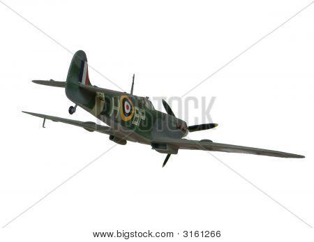 Spitfire modelo avión en vuelo - retiro