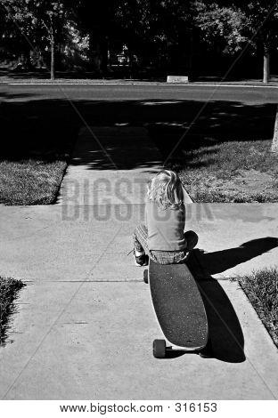 Toddler On Skateboard