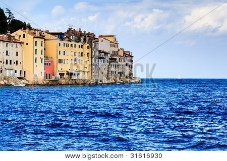 Medieval City Of Rovinj In The Morning, Croatia