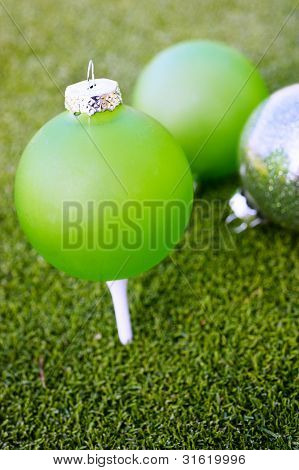 Ornaments On A Golf Course
