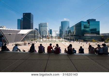 La Defense Grande Arche Steps