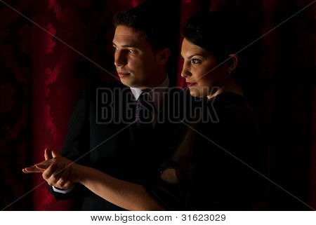 Beautiful Couple Dancing In Night