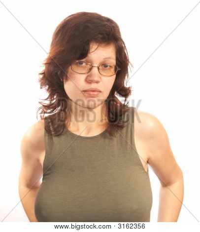 Woman In A Fitting Vest