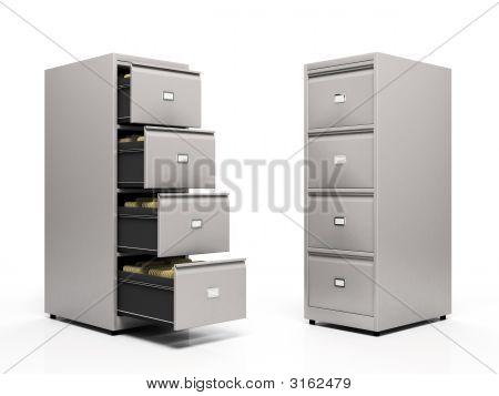 Archivos de la tarjeta gris aislados sobre fondo blanco
