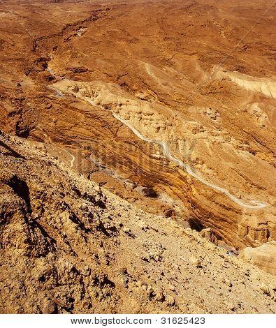 Judean Desert Near The Shore Of The Dead Sea.