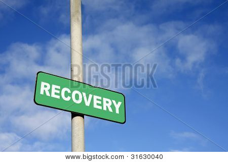 Green Recovery Sign
