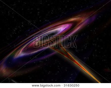 Wormhole In Outer Space