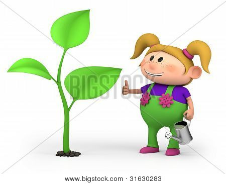 Girl With Large Sprout