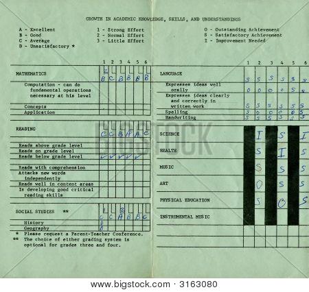 Cartão de relatório de 1971-72
