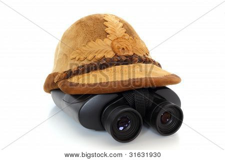 Traditional Hat And Binoculars