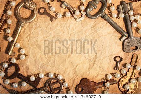 Blank Paper, Framed Old Keys