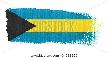 Brushstroke Flag Bahamas