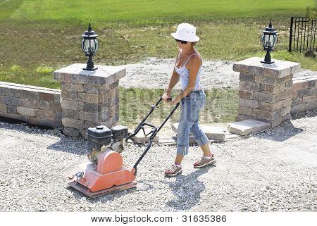 Compacting Lady