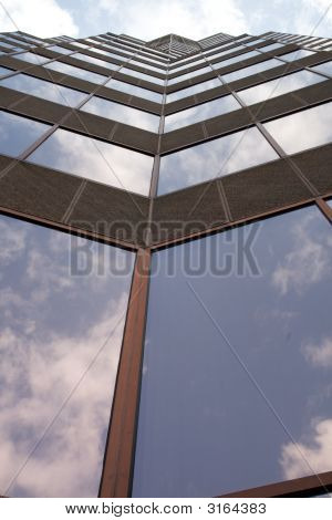 Steep View Of Glass Building