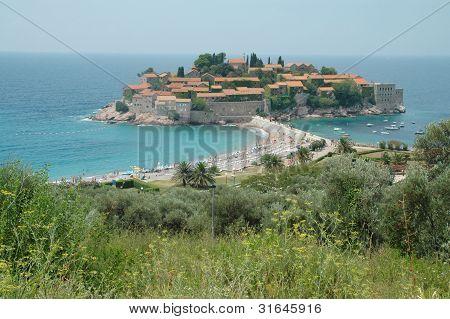 Sveti Stefan peninsula, Montenegro coastline