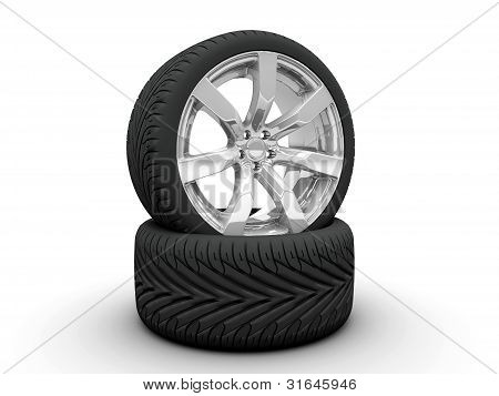 Two Wheel Isolated On White