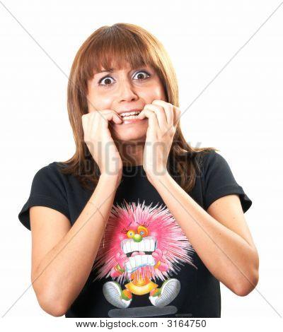 Girl In A Black Vest Stress