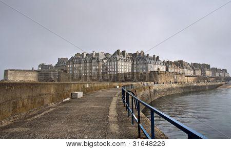 Saint Malo In A Foggy Day