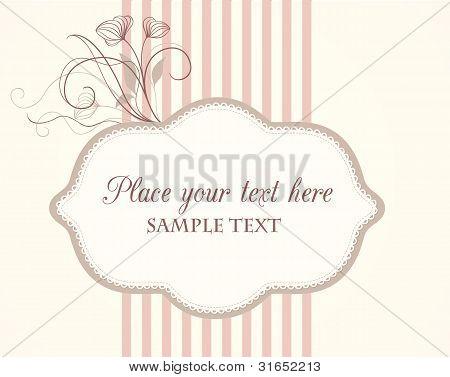 Floral vintage label
